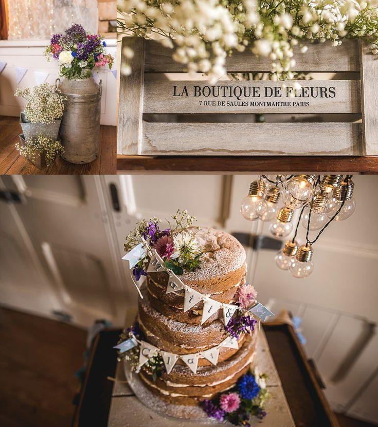 Cake flowers village town hall wedding