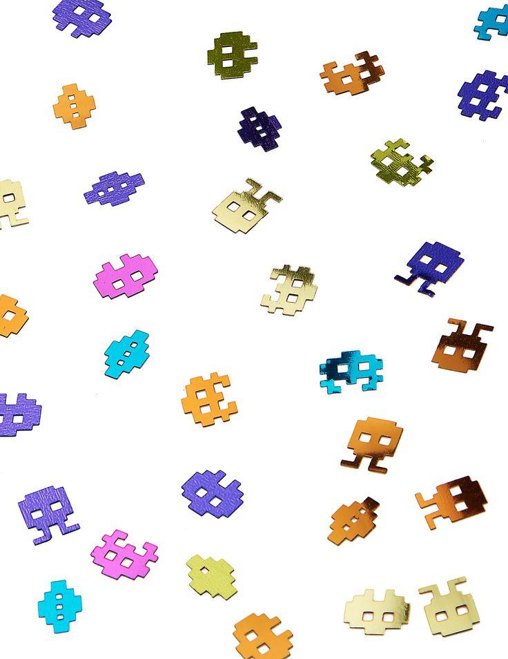 Coriandoli in stile videogiochi Anni Ottanta 14 g su VegaooParty, negozio di articoli per feste. Scopri il maggior catalogo di addobbi e decorazioni per feste del web,  sempre al miglior prezzo!
