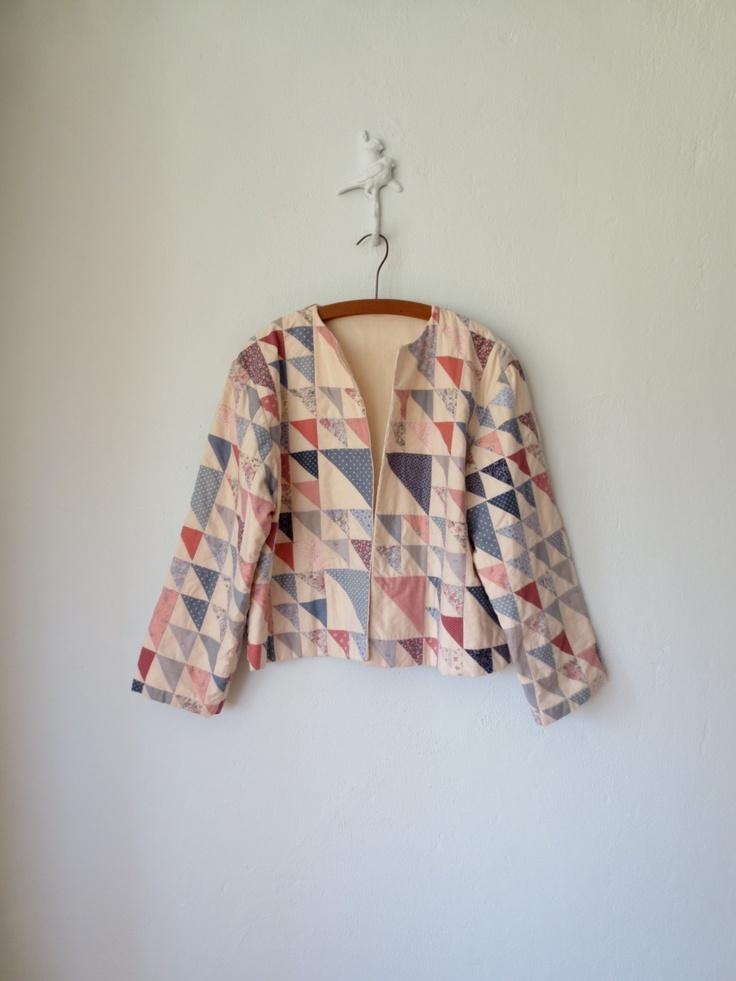 Quilted Jacket ... Vintage 80s Boho Folk Blazer ... Large. $38,00, via Etsy.
