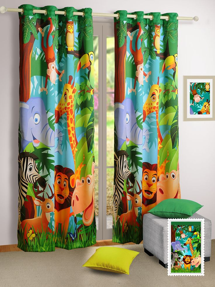 This animal printed curtains are very proper for kids, because these kids curtains are set out on a safari in the dense forest with animals in their natural habitat. These kids curtains are made of faux silk which gives these kids curtains a natural sheen.See more at: https://www.flickdeal.co.nz/collections/kids-curtains/products/canopus-animals-kids-curtains