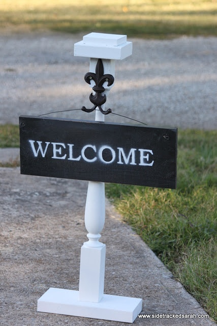 116 best displays signs diy images on pinterest boutique ideas outdoor sign holder diy solutioingenieria Images