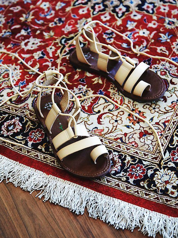 Faryl Robin x Free People Vegan Maddie Tie Up Sandal at Free People Clothing Boutique
