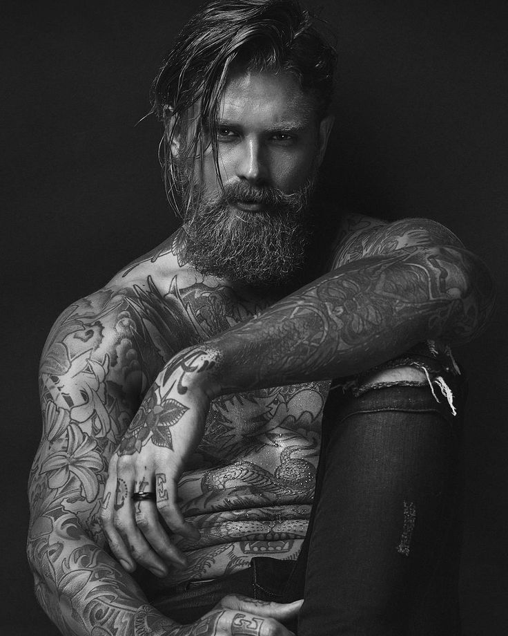 17 best images about tattoo men on pinterest sleeve for Bearded tattooed man