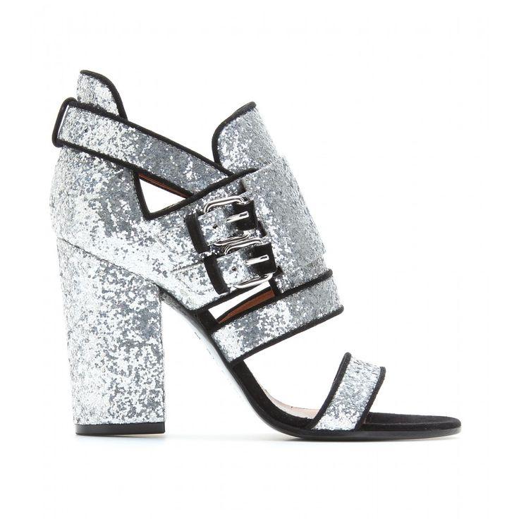 GIVENCHY, VICTORIA BIKER GLITTER SANDALS: Shoes Showca, Silver Glitter, Glitter Chunky, Glitter Shoes, Givenchy Glitter Sands, Givenchy Shoes, Amazing Shoes, Biker Glitter Sandals Givenchy, Chunky Heels