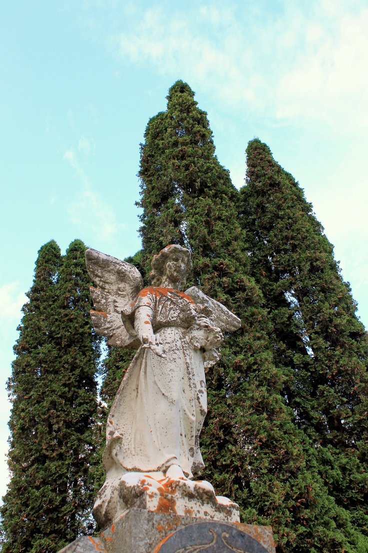 An Old Angel Statue On Top Of A Monument At A Cemetery In Belleville,  Ontario | Work Related | Pinterest | Angel Statues, Cemetery And Angel