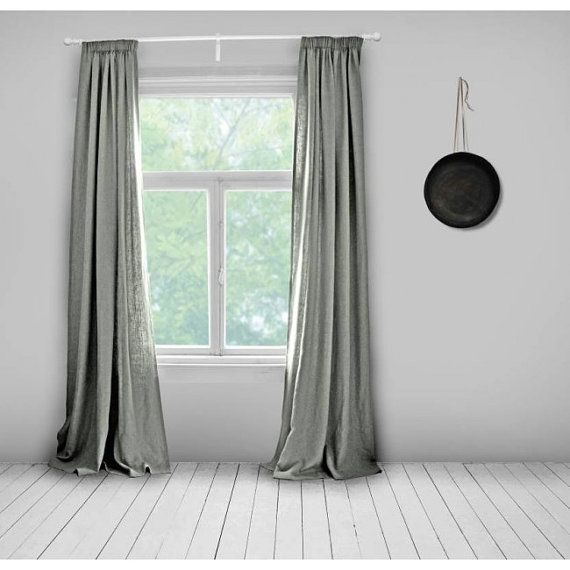 Grey Linen Curtains  Lined  Mid Grey  Made To Measure Curtains  Bespoke  Curtains