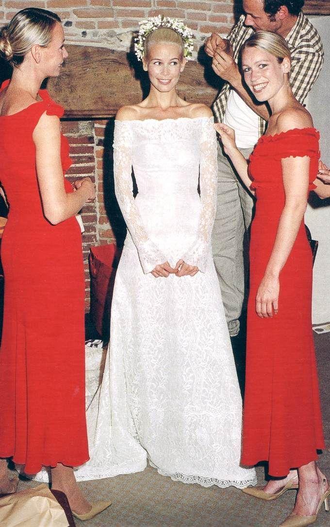 Claudia Schiffer and Matthew Vaughn #Wedding #Famous