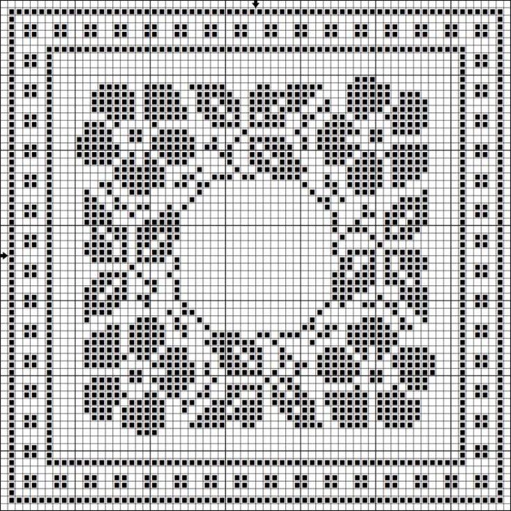 Filet crochet charts: