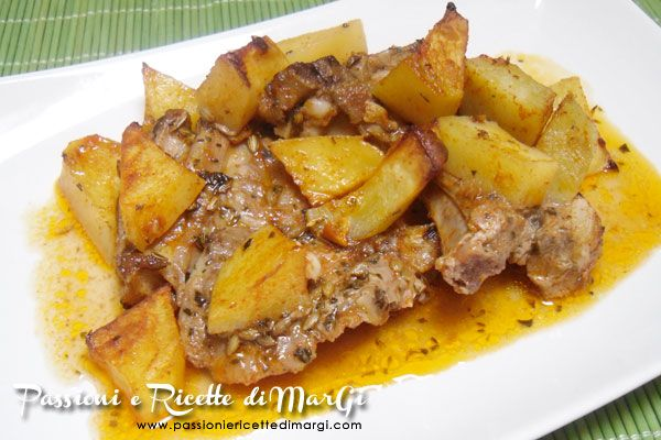 Costolette di agnello al forno con patate speziate
