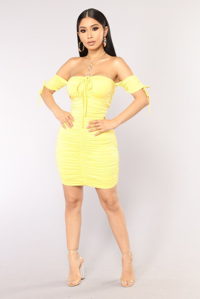a139ad5814 Sanya Ruched Dress - Yellow in 2019