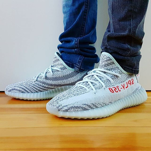 best service b1d38 612f5 Go check out my Adidas Yeezy Boost 350 V2 Blue Tint on feet channel link in