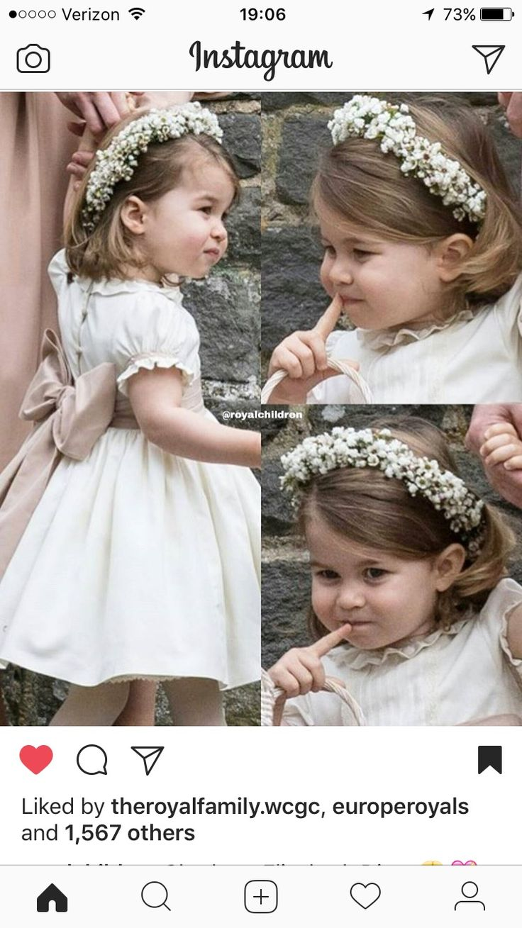Princess Charlotte was a bridesmaid in Aunt Pippa's wedding.