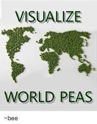 Image result for visualise world peas
