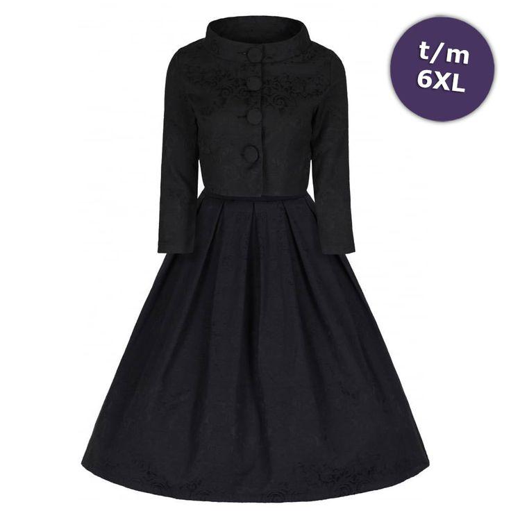 Lindy Bop Swing Marianne jurk met afneembaar crop jasje met lange mouw