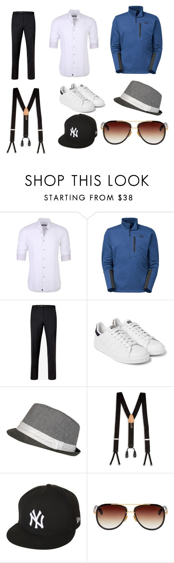 """Не люблю мужские вещи"" by kruchinenko ❤ liked on Polyvore featuring Stone Rose, The North Face, Ted Baker, adidas Originals, Trafalgar, New Era, Dita, men's fashion and menswear"