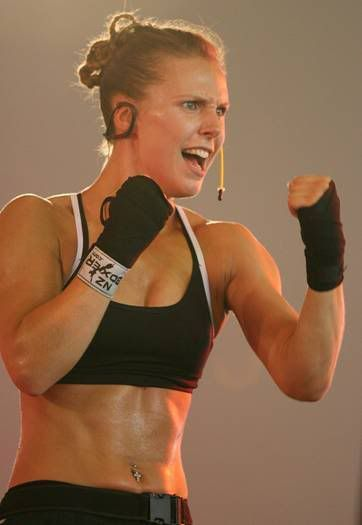 Body Combat Rachel Cohen....My goal is to be bad ass like her!!! Combat here I come!!
