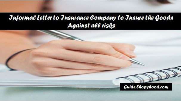 "Welcome Learners!    Last time, I told you ""How to write an Informal letter To Friend On Birthday Expressing Good Wishes"". Hope you learned something and today I will teach you how to write a Business letter to Insurance Company to Insure the Goods Against risks.   #business letter format #formal letter"