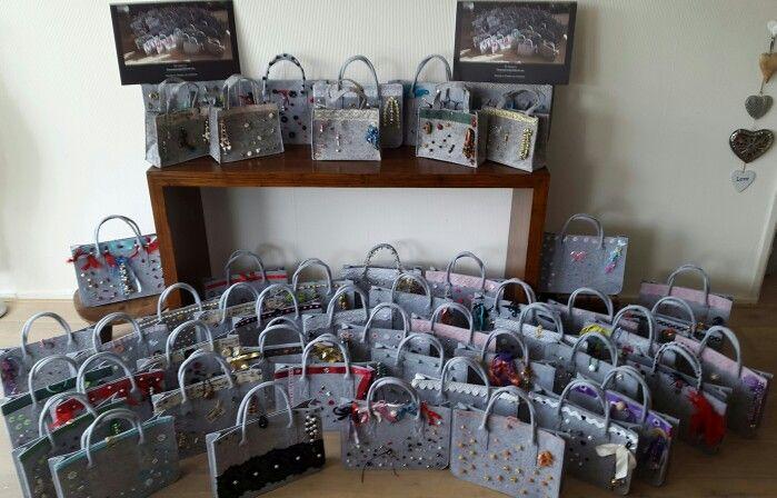 Vilt tasjes van tasjes voor kika by D.design