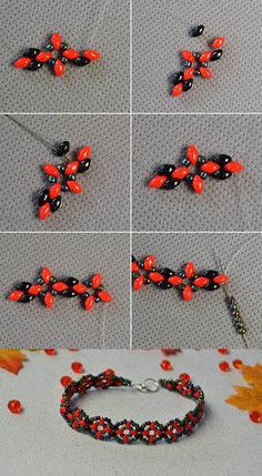 Like this 2-hole seed beads bracelet? The tutorial will be released by LC.Pandahall.com