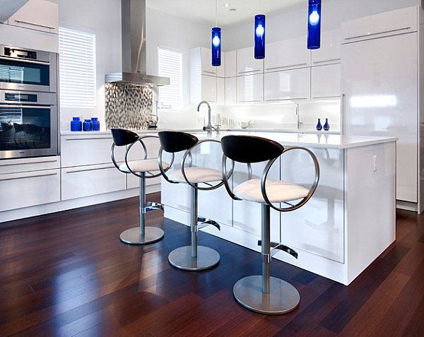 Gloss Perfection   Modern   Kitchen   Ottawa   By Handwerk Interiors. Find  This Pin And More On Blue Pendant Lights ...