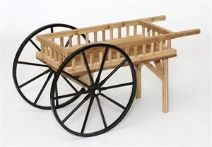 Amish Crafts Decorative Peddler's Cart Wagon
