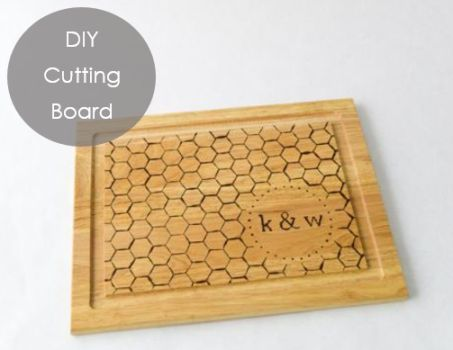 for parents or inlaws for Christmas: diy cutting board