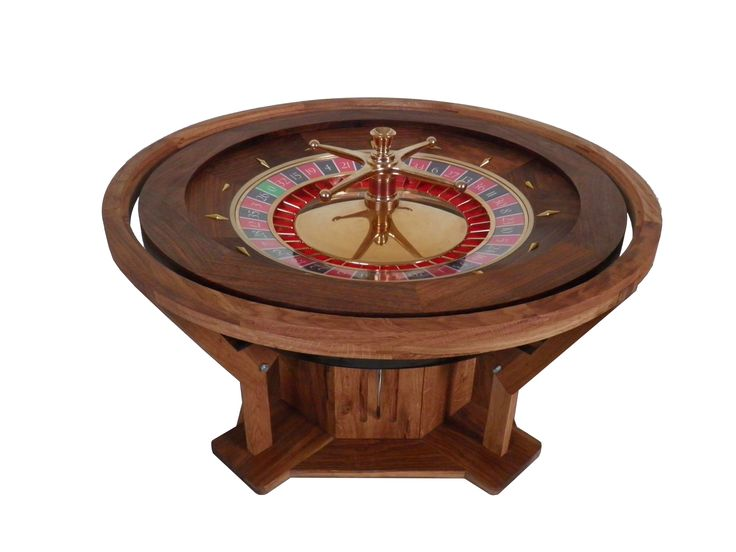 table basse roulette casino