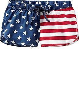 Women s Americana-Print Lounge Shorts (2-1 2