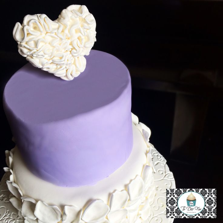 Ruffled heart, lilac and petals for days! Love this combination!