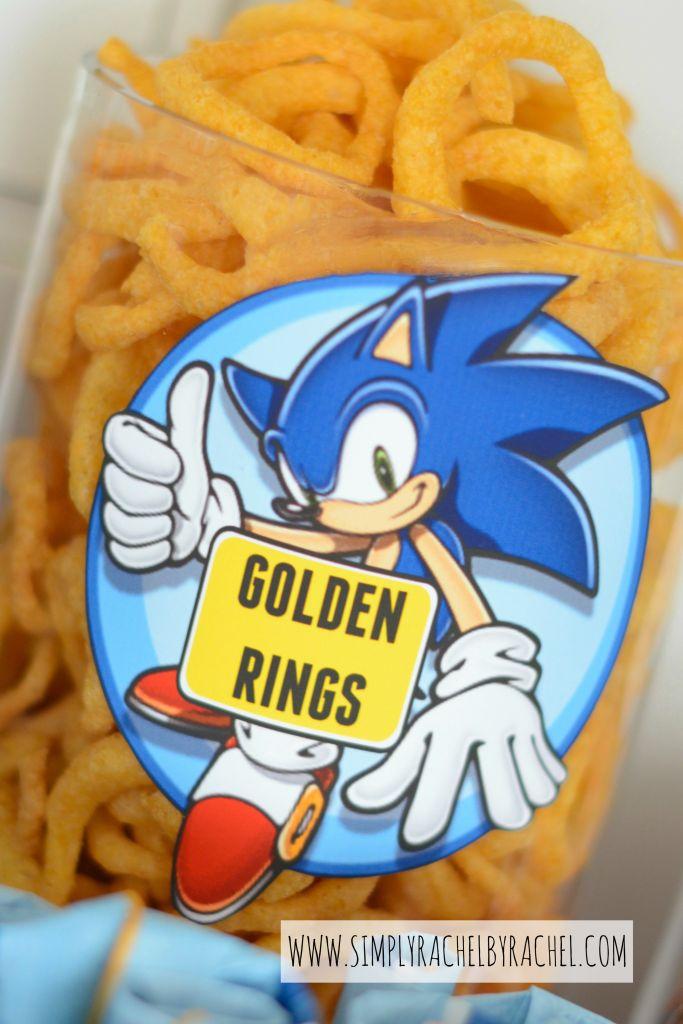 Snacks Golden Rings Sonic Party