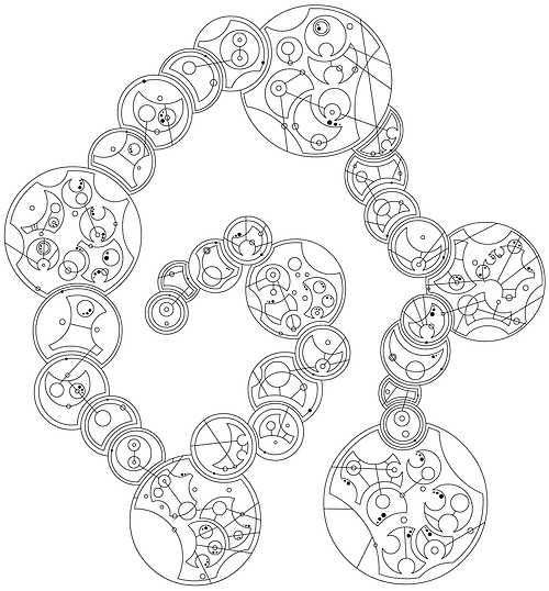 "Someone has talent... in Gallifreyan ""One,Two,Three,Four,I declare a time war. Five, Six, Seven, Eight, Daleks scream ""EXTERMINATE"". Nine, Ten, Eleven, Twelve, The Doctor died and Silence Fell. Twelve, Eleven, Ten, Nine, there he goes back in time. Eight, Seven, Six, Five, saving everybody's lives. Four, Three, Two, One, grab her hand and whisper ""Run."""""