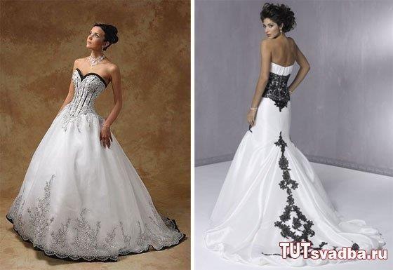 Свадебное платье фото черно белое