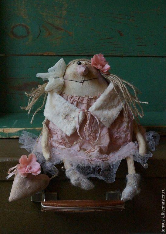 Купить Снежная снежная и немного нежная - разноцветный, таня бурсюк, примитивная кукла, розовый