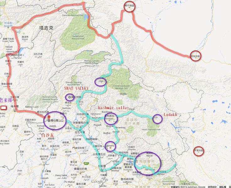 kashmir area map