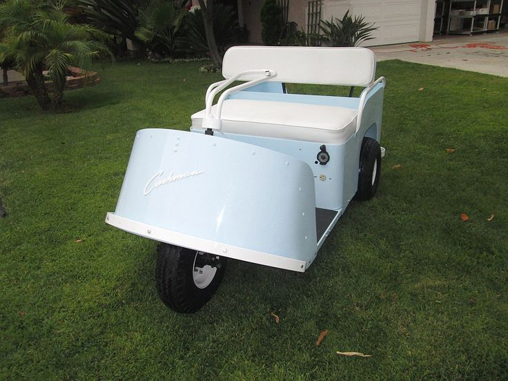 My Buddy Restored A 1955 Cushman Golf Cart He Says There Are Only 2 Of These Models Left In Existence And The Other One Is In A Museum Golf Carts Custom