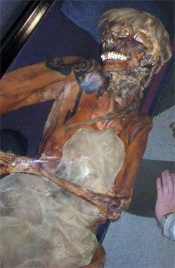 Scythian tattooed mummy.