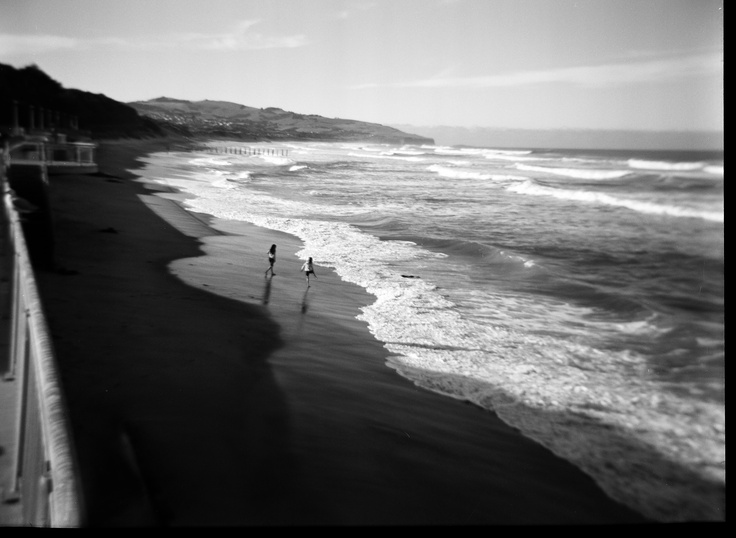 My favourite photo to date. I took this on my Holga on black and white 120mm film. St Clair, Dunedin, New Zealand.