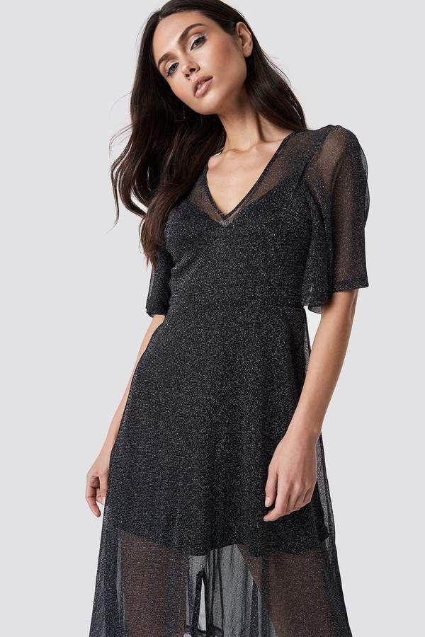 a220930854736 Dilara X Na Kd Sparkly Midi Dress