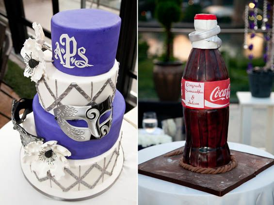 Phantom of the Opera-themed wedding with a little something for the Coca Cola-loving groom