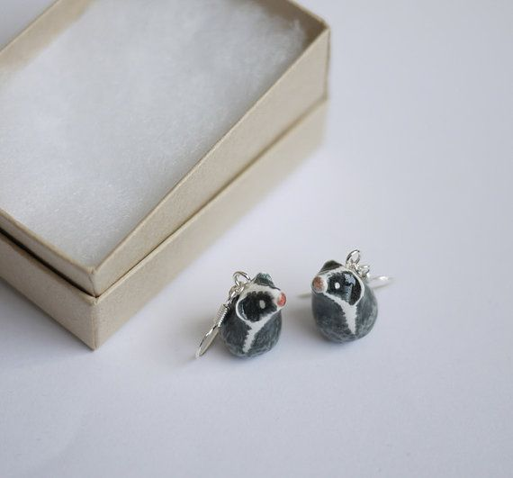 Badger earrings