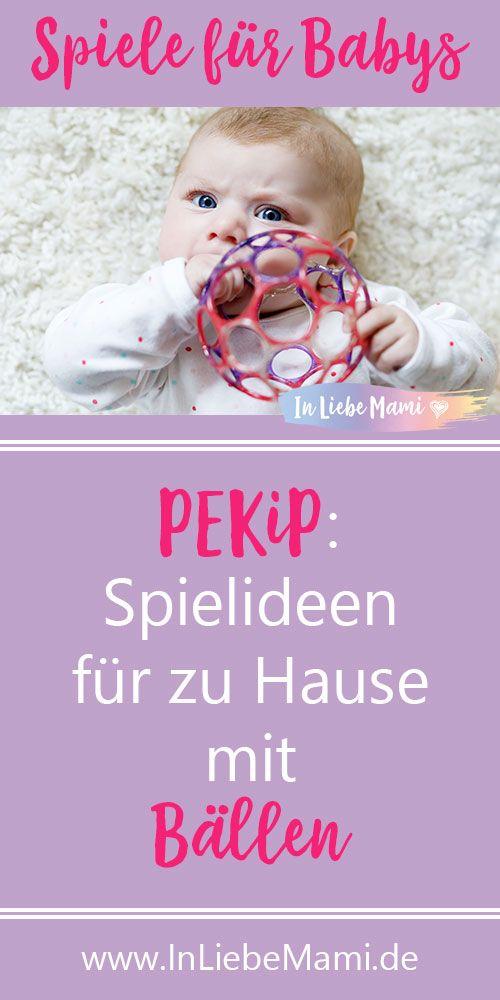 PEKiP: Spielideen für zu Hause mit Bällen