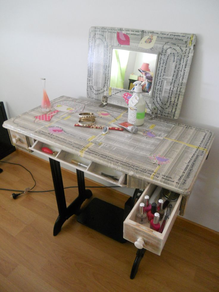 Mejores 21 im genes de pie de maquina en pinterest mesas for Muebles de costura