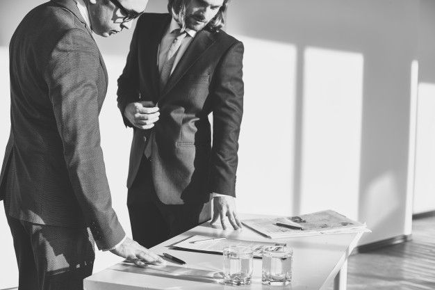 Business meeting in black and white Free Photo