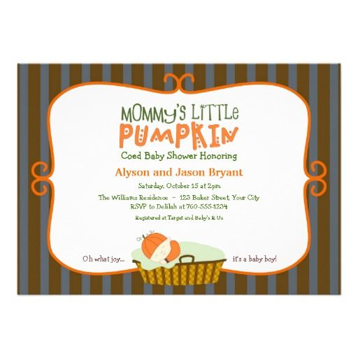 october baby shower ideas | Mommy's Little Pumpkin Baby Shower Invitations from Zazzle.com
