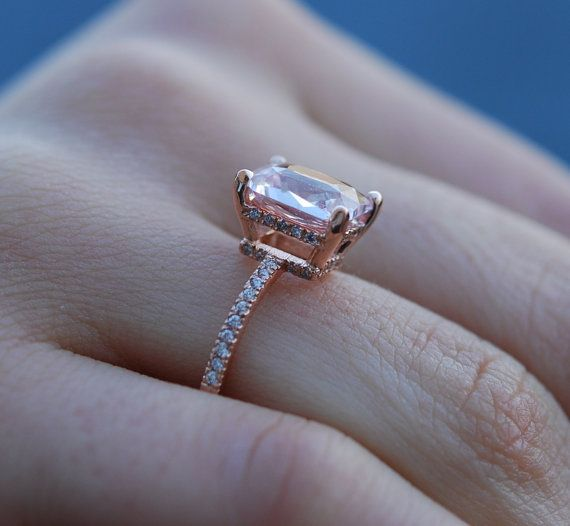 Blake Lively ring Peach Sapphire Engagement Ring by EidelPrecious