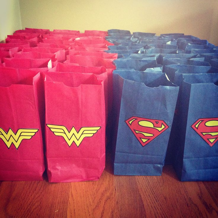 Wonder Women and Superman Candy Bags