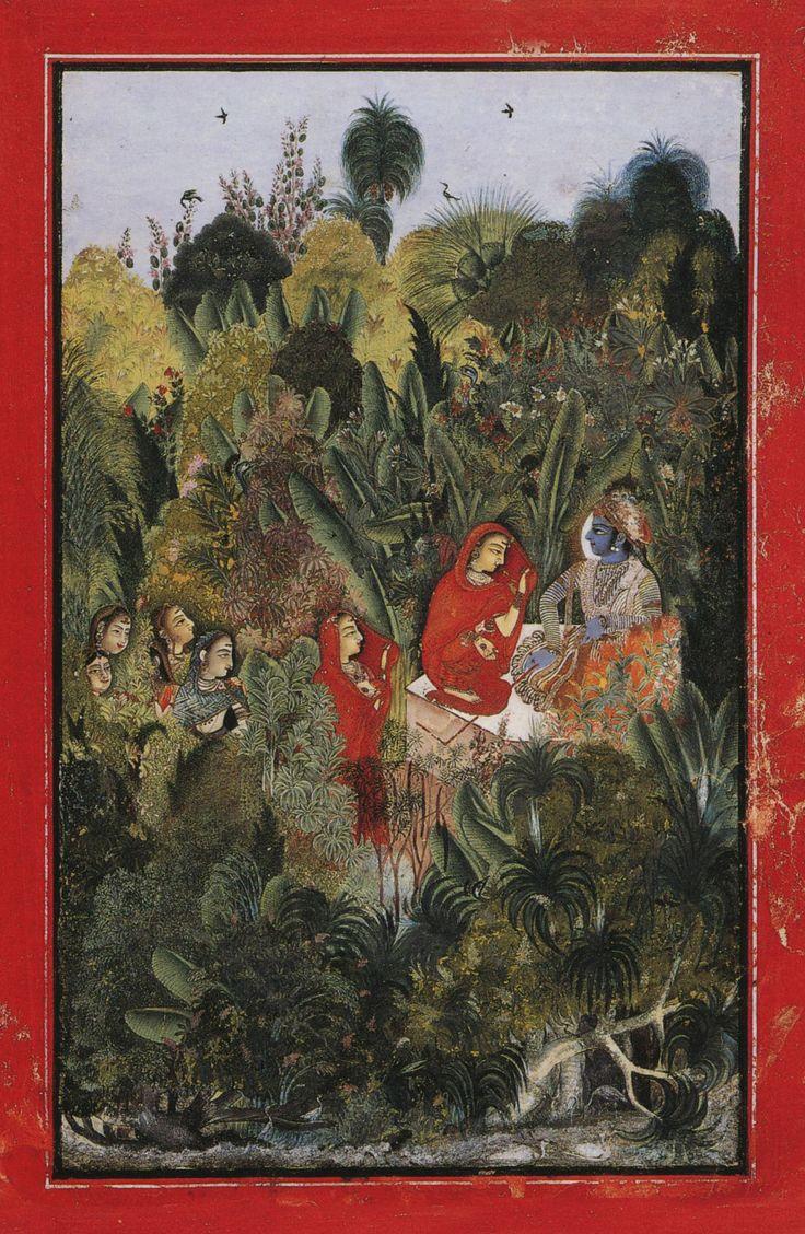 Krishna and Radha with milkmaids, Kota.