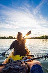 Canoë sur le lac de Lamontjoie