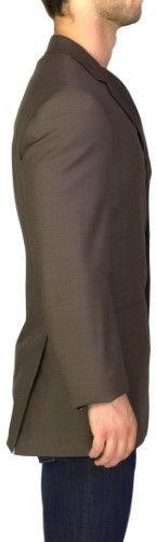 Prada Men's Virgin Wool Three-Button Sportscoat Jacket Brown