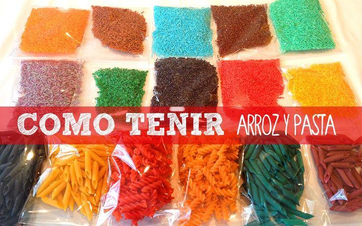 Aprende a hacer arroz y pasta de colores para tus - Manualidades con papel de colores ...